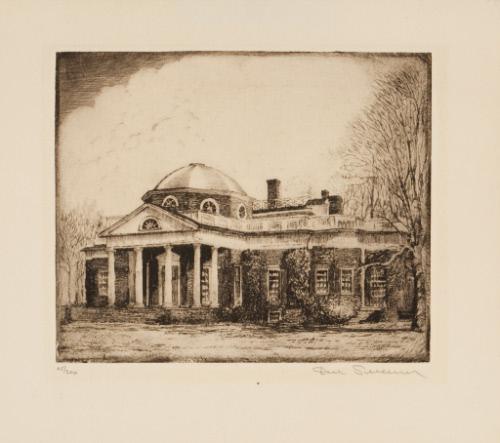 Monticello, Home of Thomas Jefferson – Works – Delaware Art Museum